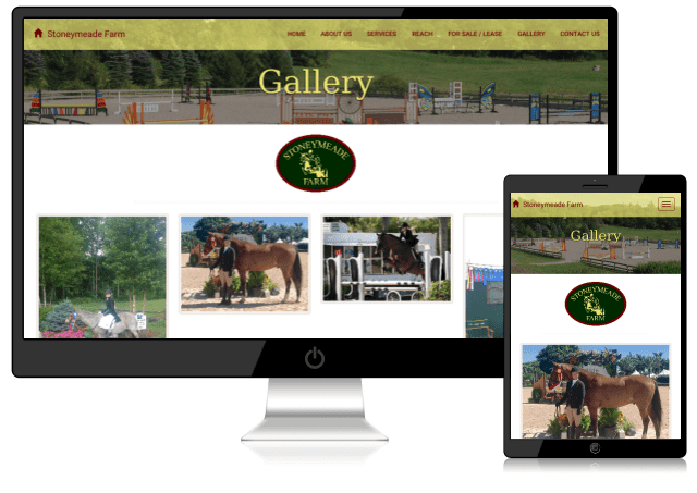 Sample mobile-friendly horse farm website designed by Emothy